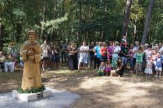 Slavnostní odhalení sochy sv.Josefa a vysvěcení Svatojosefského pramene v Kersku